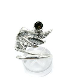 wing ring, angel ring, angel wing ring, smoky quartz ring adjustable ring Angel Wing Ring, Smoky Quartz Ring, Adjustable Ring, Quartz Stone, Wings, Fashion Jewelry, Wedding Rings, Engagement Rings, Nice