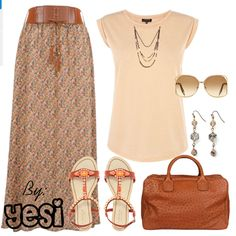 Maxi skirt outfit. 111