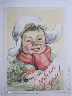 postcard, Russia, 1958 г. Художник М. Писаревский.