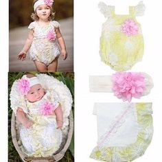 Spring Special: Haute Baby Daisy Meadow 3 pieces: Gown or a 0-3m or 6-9 m romper, blanket and headband. If purchased separately: $128.80. Spring Special for the set: $84. Bear Cub Gifts does ship and we offer lay-a-way. Bear Cub Gifts has sizes in the romper up to size 24m that are 30% off.