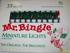 Super Rare Vintage Mr Bingle Christmas Lights New Orleans Icon Snowman NRFB