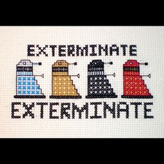 Cross Stitch Daleks