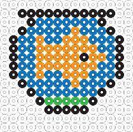 Biggie Beads Patterns - Biggie Beads Goldfish Project Sheet.  Tons of Biggie Bead Patterns-all FREE!
