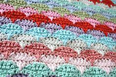 Clamshell Pattern - unsual crochet stitch pattern