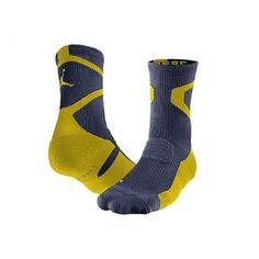 Nike Mens Jordan Jumpman Crew Basketball Blue Gold Socks Large 8-12 589042-418 #Nike Nike Michael Jordan, Jordan Logo, Jordans For Men, Blue Gold, Nike Men, Basketball, Clothes, Fashion, Moda