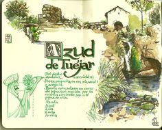 de vuelta con el cuaderno: Cuaderno Muaré (1. Valencia) Azud de Tuéjar