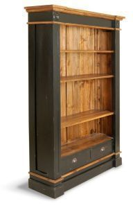 Painted Hand Made Pine Large President Bookcase Shabby Chic