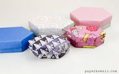 Learn how to make a long origami gem box, this is like a crystal with two points. This a more advanced model, but not too hard. Makes a wonderful gift box!