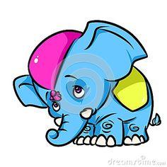 Little Circus Elephant cartoon illustration   image animal character