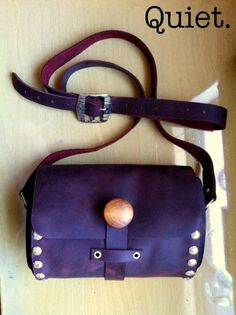 Quiet Hand crafted leather and wood bag purse by reeveswilliam, $79.99