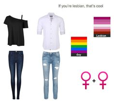 """""""Homosexual (Lesbian) Couple Outfit"""" by mackenzie-lynn-ann-lilly ❤ liked on Polyvore featuring Dr. Denim, Current/Elliott and Stone Rose"""