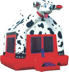 Dalmatian Inflatable Bouncer that wags his tail and bobs his head as the kids bounce.