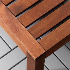 ÄPPLARÖ Table/stool section, outdoor - brown stained brown - IKEA Outdoor Cushion Covers, Outdoor Cushions, Cushions On Sofa, Pillows, Paper Industry, Modul Sofa, Wood Supply, Ikea Family, Outdoor Tables