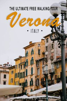 Our Free Walking Tour Verona takes you along the prettiests streets in Verona and the best things to do. Includes the Verona Arena, Juliet's House, Torre Dei Lamberti and cute piazzas! Includes a free walking tour Verona map. #travel #europe #italy #walkingtour