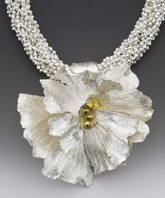 Winter white wedding necklace Academy awards silver by lynncobb, $2925.00