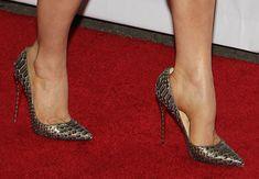 Fergie wearing Christian Louboutin 'So Kate' pumps