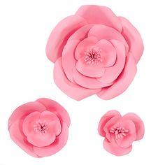 Rose DIY Paper Flowers (set of 3)