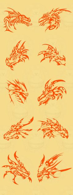 Dragon Heads 4 Left