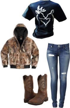 Country style! My dad used to dress me up in camo and hunting shirts lol