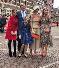 The Royal Children: Dutch RF: Princesses Amalia, Alexia and Ariane at Kingsday (Koningsdag) Monaco Royal Family, Danish Royal Family, Royal Families Of Europe, Big Girl Clothes, Estilo Real, Dutch Royalty, Princess Estelle, Casa Real, Royal Court