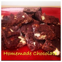Ripped Recipes - Homemade Healthy Chocolate - Homemade chocolate, healthy option for that sweet tooth, here is the basic recipe for the chocolate, anything can be added to the mixture before freezing, I added sultanas, pecans and cashew nuts to make fruit and nut chocolate