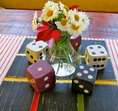 centerpieces for a game themed party