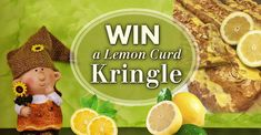 Be the lucky one to WIN a delicious Andersen's Lemon Curd Marzipan Kringle! Enter on https://andersenssantabarbara.com/win-a-kringle/ #giveaway #win