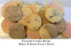 10 Dozen Cookies from 1 Batch that makes over 100 biscuits with Nestle condensed milk for masses of cookies recipe.