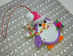 Christmas ornament Christmas tree toy Winter by QuillingLife