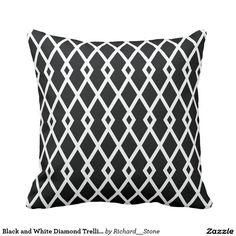 白黒ダイヤモンドの格子垣の枕