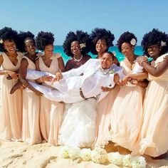 Shine Queens! This All-Natural Hair Bridal Party is Pure #BlackGirlMagic