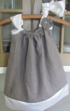 Linen & Satin Pillowcase Dress