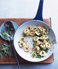 Real Simple:  Tortellini With Peas and Tarragon.  What a great, fast recipe!  lilferg