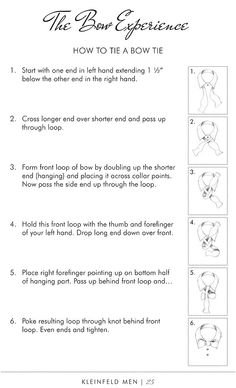 How to Tie a Bowtie from Kleinfeld Men