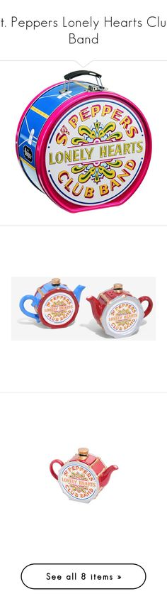 """St. Peppers Lonely Hearts Club Band"" by dinkums-the-cat ❤ liked on Polyvore featuring home, kitchen & dining, food storage containers, tin food storage containers, serveware, salt and pepper pots, heart salt and pepper shakers, salt n pepper shakers, salt and pepper shakers and salt pepper shaker"