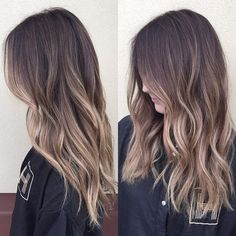 Fun contrasted ombré  #babylights #balayage #ombre #sombre #sunkissed #summerhair #beachwaves #wavyhair #prettyhair