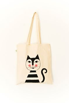 "Organic Cotton Tote Bag ""Moritz"" // handpainted. $21.40, via Etsy."