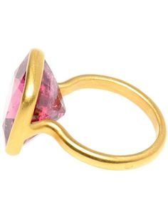 MARIE HELENE DE TAILLAC - Large spinel and 18K gold ring 2 farfetch.com