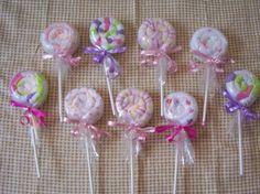 washcloth lollipops