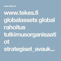 www.tekes.fi globalassets global rahoitus tutkimusorganisaatiot strategiset_avaukset_ratkaisukeskeiset.pdf