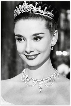 Audrey Hepburn was positively glorious all the time, on and off screen. She's shinier than the jewels she's wearing.