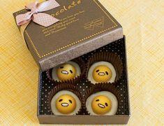 gudetama recipe, cute recipe, kawaii recipe, cute chocolates, kawaii chocolates, fried egg chocolates, gudetama chocolates