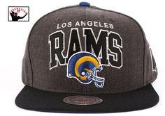 Los Angeles Rams Heather Snapback Nfc West 2523fb16adbd