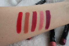 Maybelline Color Drama Velvet Lip Pencil Swatches. So pigmented!