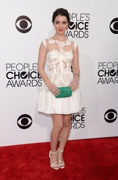 I love this dress. It is like the perfect mix of demure yet sexy. - Adelaide Kane | Fashion At The 2014 People's Choice Awards