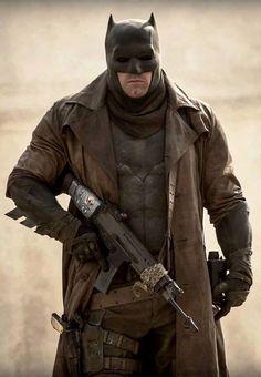 Dream Sequence batman for BvS:DOJ... Notice the card taped to the gun…