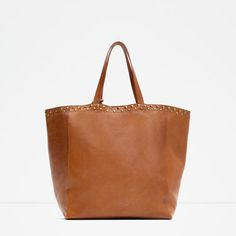 Image 4 of STUDDED LEATHER TOTE from Zara