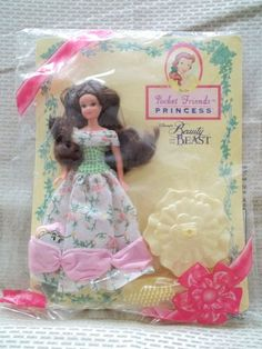 "1997 Mattel Disney Pocket Friends 6"" Princess Belle Beauty & the Beast Avon Excl #Disney #DollswithClothingAccessories"