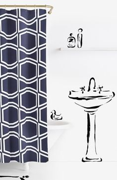 kate spade new york 'bow tile' shower curtain available at #Nordstrom
