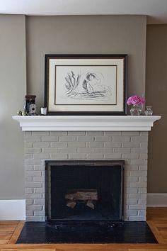 cheminée peinte